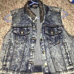 FOREVER 21 studded vest